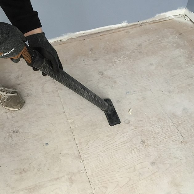 Cleaning the floor before pouring self-leveler | Construction Pro Tips