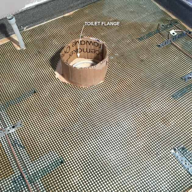 Install Cardboard Around Vents and Drains