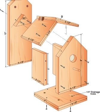 Wren house project birdhouses pinterest for House projects plans