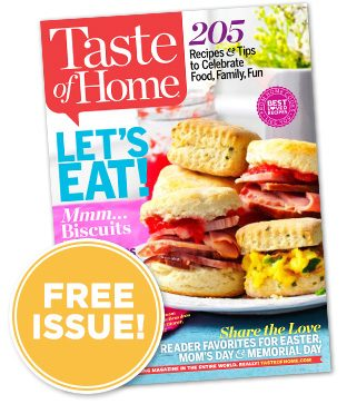 FREE Issue of Taste of Home Ma...