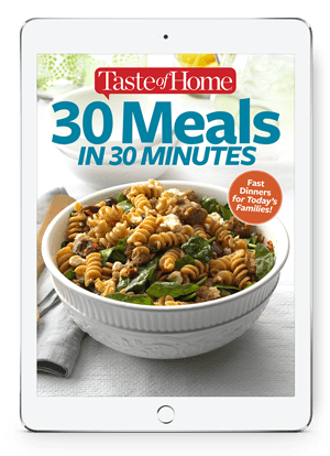 30 Meals in 30 Minutes Cover