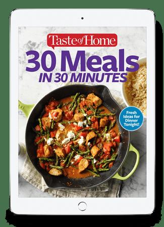 30 Meals in 30 Minutes Digital eBook
