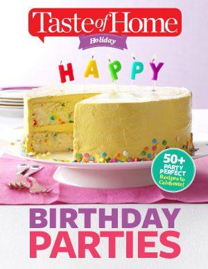 Birthday Party Recipes E–book