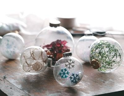 Holiday Craft Ideas on Three Ideas To Transform Ordinary Clear Glass Ornaments Into Beautiful