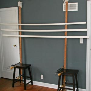 How to build a paint drying rack