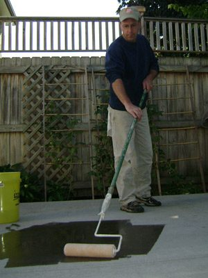 applying concrete sealer