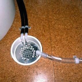 Recessed PVC floor drain