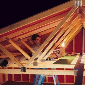Garage Storage How Much Weight Can Trusses Take Diy