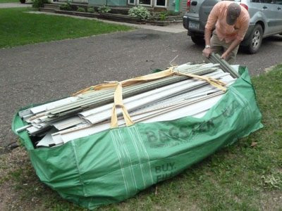 Bagster bags can handle construction debris