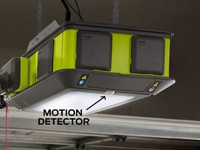 meet the 2hp ultraquiet ryobi garage door opener