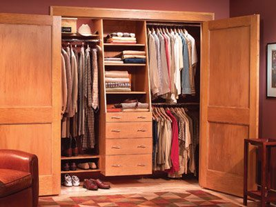 Build a closet organizing system