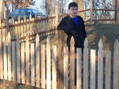 Cheapskate picket fence