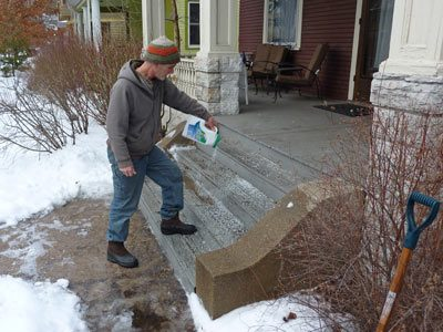 Salt your steps before the ice storm hits