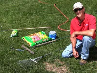 Tools for reseeding bare spots