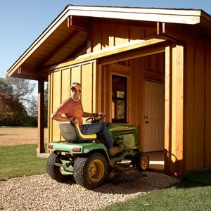 Build a shed with sliding doors