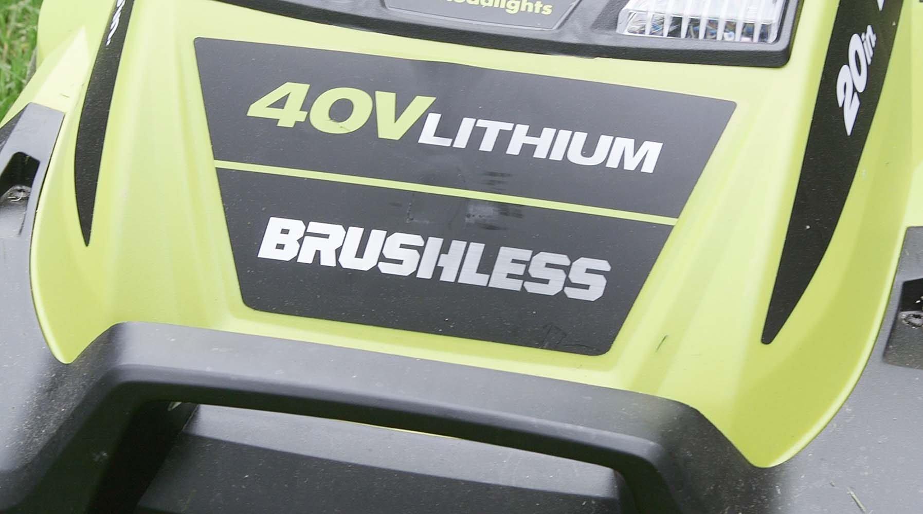 Ryobi Brushless Motor Lawn Mower ryobi 40v mower