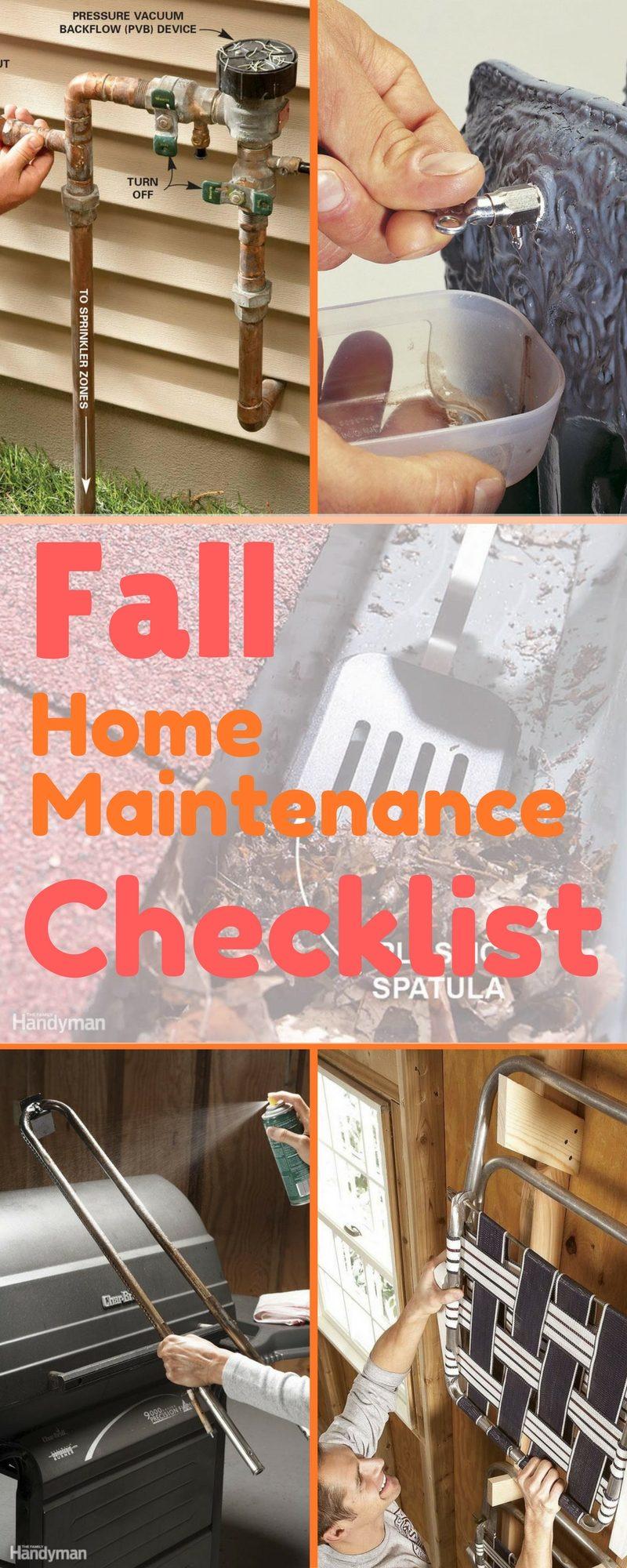fall home maintenance checklist the family handyman. Black Bedroom Furniture Sets. Home Design Ideas