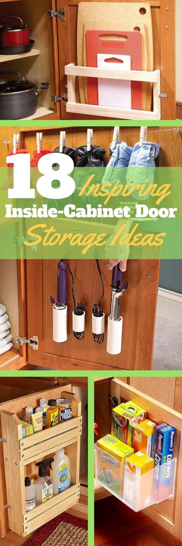 18 Inspiring Inside-Cabinet Door Storage Ideas | The ...