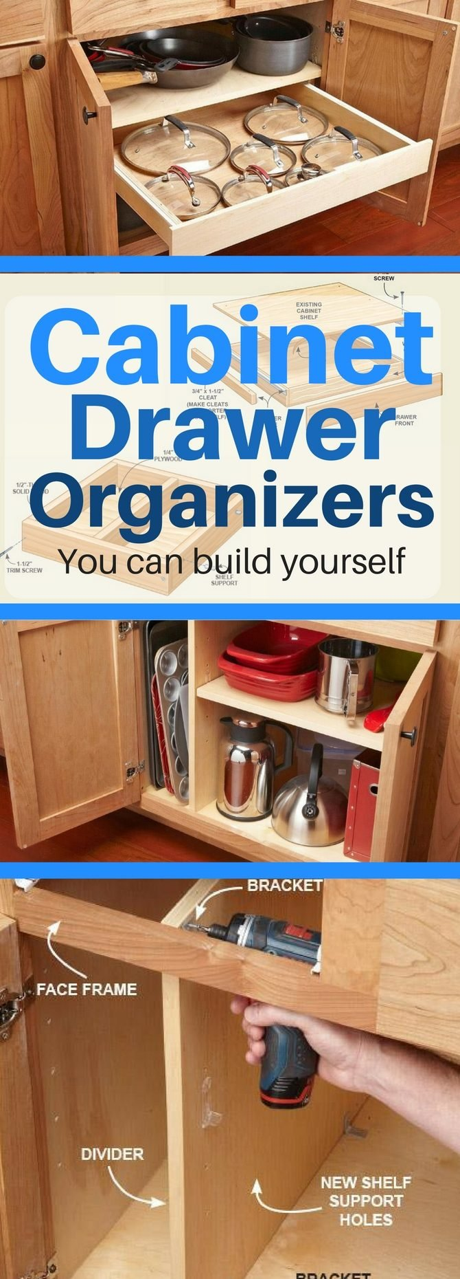 10 Kitchen Cabinet Tips: 10 Kitchen Cabinet & Drawer Organizers You Can Build