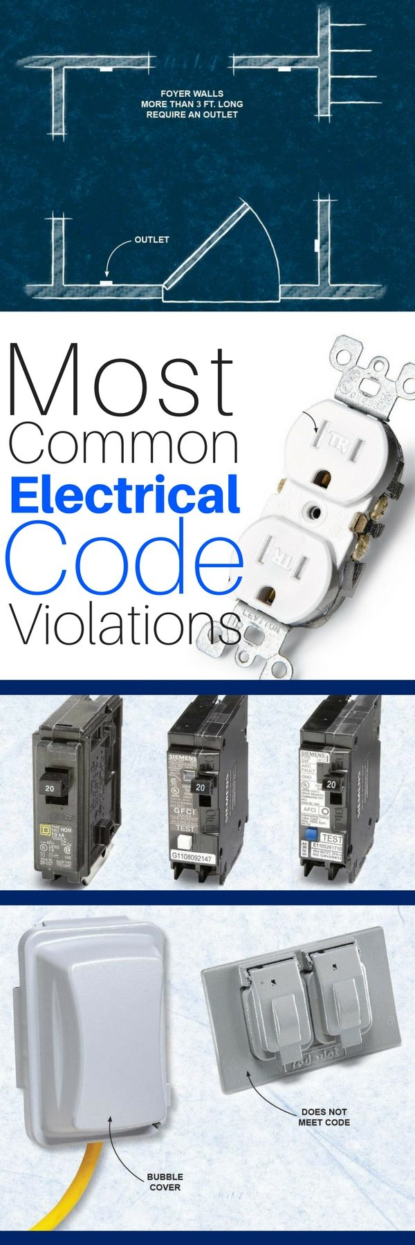 the 8 most common electrical code violations diyers make. Black Bedroom Furniture Sets. Home Design Ideas