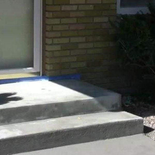 How to repair concrete steps the family handyman - Resurfacing exterior concrete stairs ...
