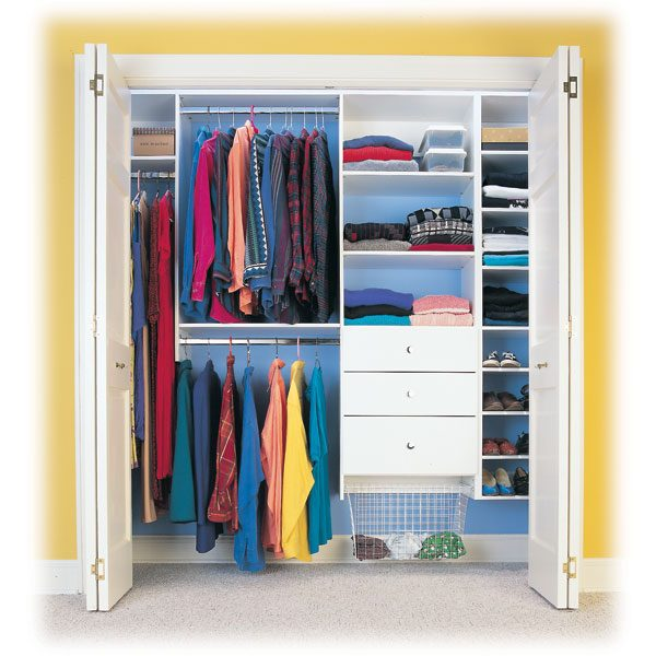 for the cost of a regular dresser you can install a modular closet organizer and double your storage space with adjustable shelves drawers and closet rods