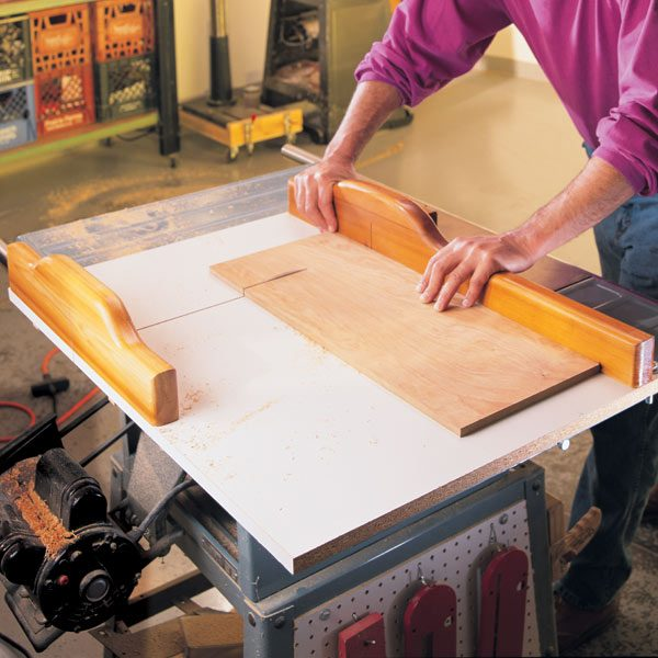 Crosscuts With A Table Saw Sled The Family Handyman