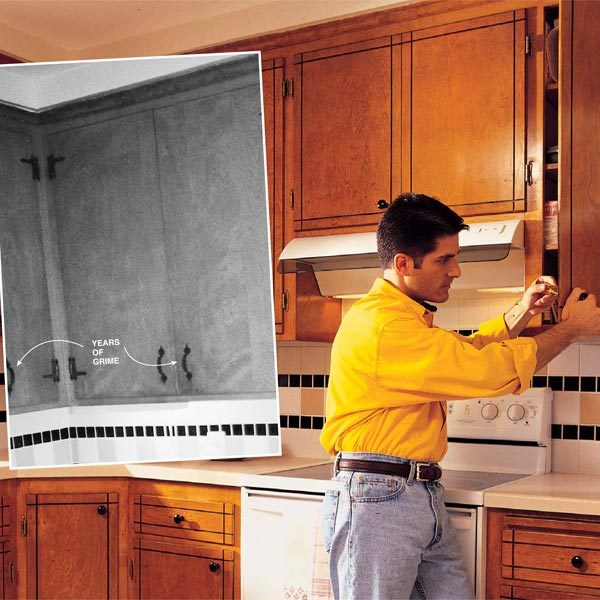 how to refresh old kitchen cabinets how to refresh kitchen cabinets the family handyman 17319