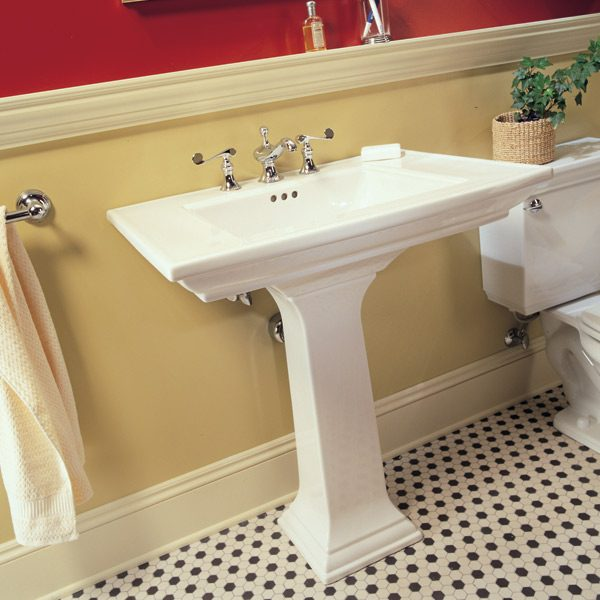 Pedestal Sink Pipe Cover : How to Plumb a Pedestal Sink The Family Handyman