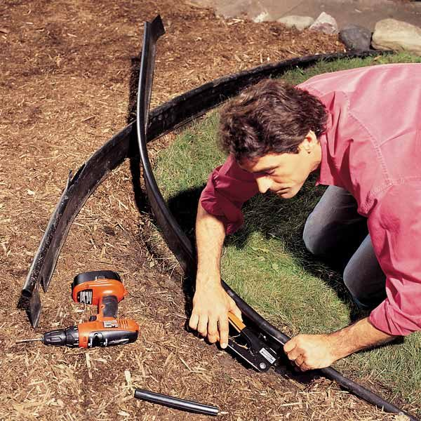 How To Repair Curved Lawn Edging The Family Handyman