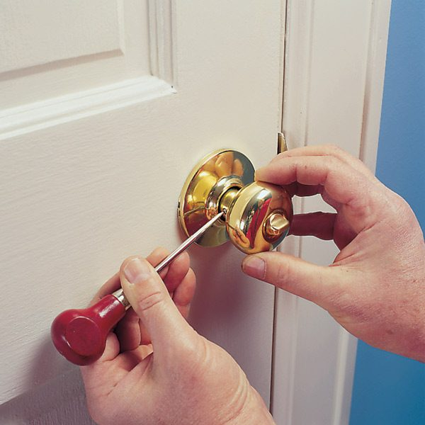 Tighten A Loose Doorknob That Has Hidden Chassis Screws It Only Takes A Minute To Pop Off The