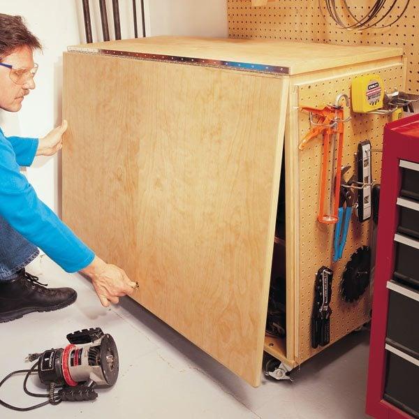 Portable Garage Hardware : Folding workbench the family handyman