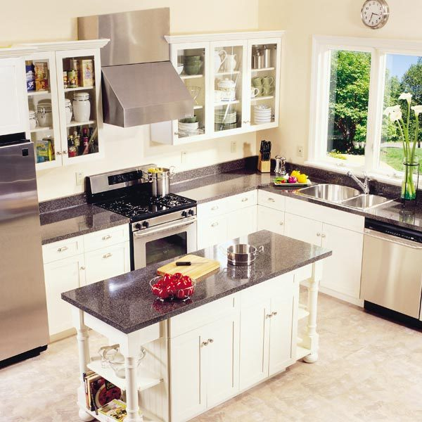 Frameless kitchen cabinets the family handyman for Build frameless kitchen cabinets