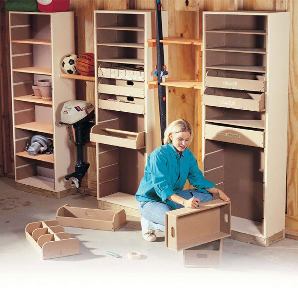 Diy Garage Storage Ideas Projects: Garage Storage Projects: Storage Towers With Drawers