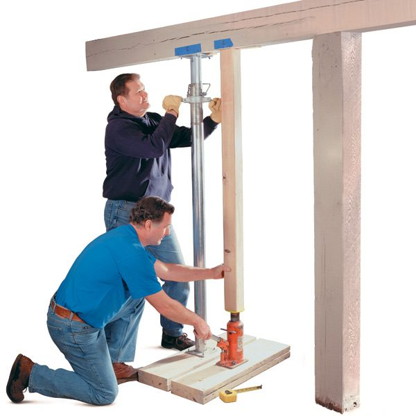 Shoring Up A Floor : How to repair a load bearing post the family handyman