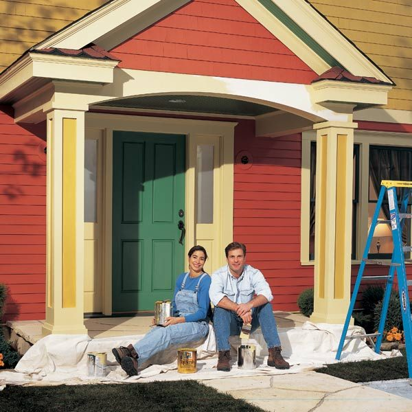 Exterior painting tips and techniques the family handyman - Exterior trim painting tips image ...