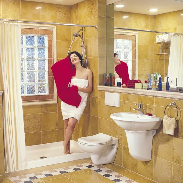 How to remodel a small bathroom the family handyman for Steps to renovate a bathroom