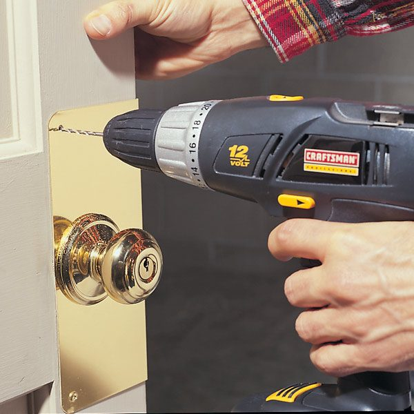How To Reinforce Door With Knob Reinforcer The Family Handyman