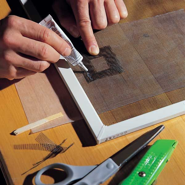 Repair A Torn Fiberglass Screen The Family Handyman