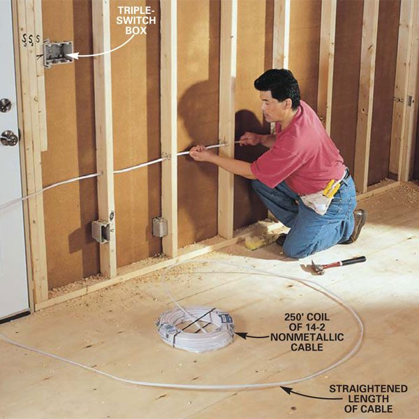 house wiring outlet height ireleast info how to rough in electrical wiring the family handyman wiring house