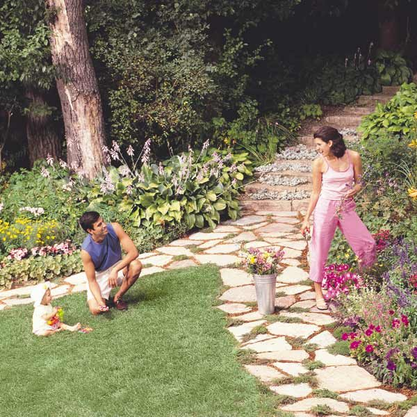 How To Build A Stone Path The Family Handyman