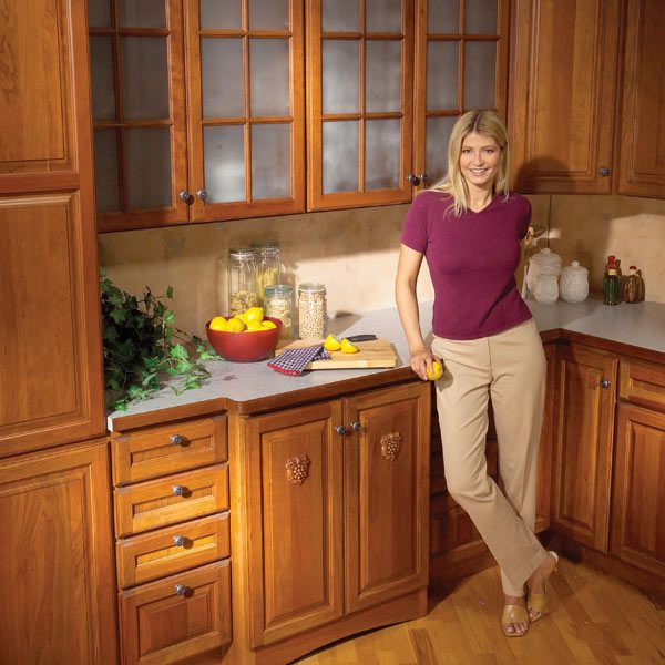 kitchen cabinets 9 easy repairs the family handyman rh www2 familyhandyman com how to repair cabinets chewed on by dog how to repair cabinets from water damage