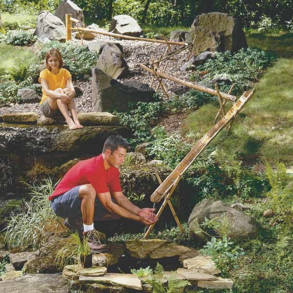 How to Build a Bamboo Water Feature - Summary: The Family Handyman