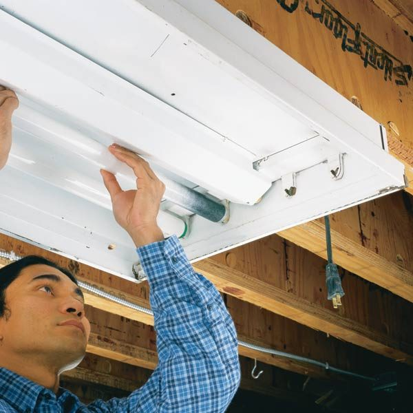 How to Replace a Fluorescent Light Bulb: The Family Handyman