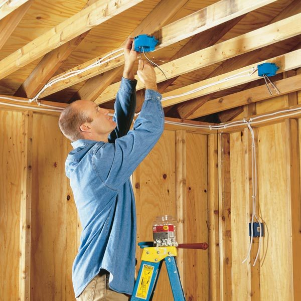 electrical wiring the family handyman how to wire a garage unfinished