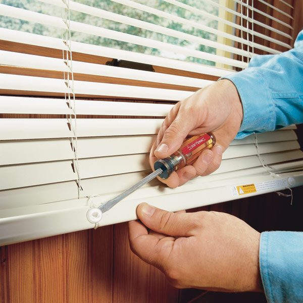 how to shorten blinds Shortening Horizontal Window Blinds | The Family Handyman how to shorten blinds
