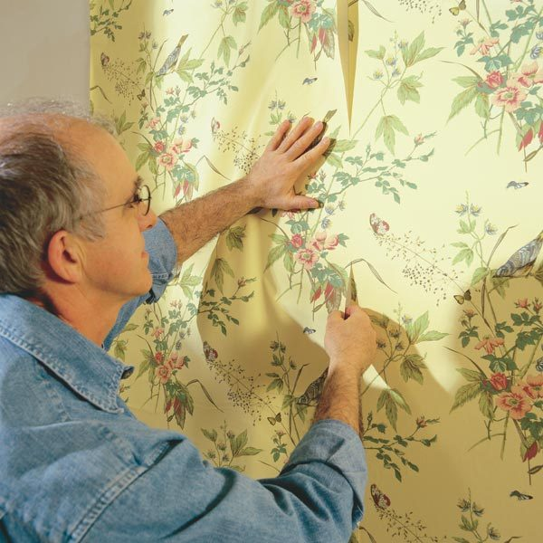how to hang prepasted wallpaper the family handyman