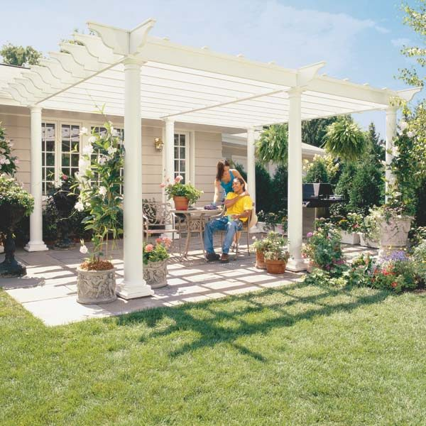 how to build a pergola the family handyman. Black Bedroom Furniture Sets. Home Design Ideas