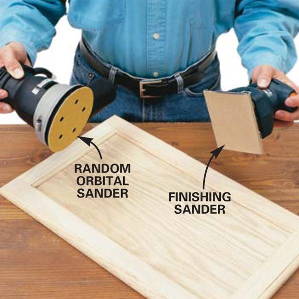 beautiful Sanding Kitchen Cabinet Doors #1: The Best Sander for Finishing Cabinets