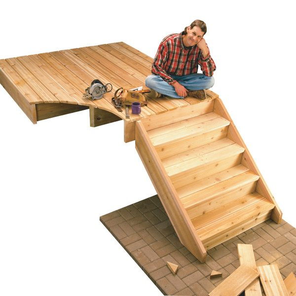 Build Wood Deck Stairs And Landing: How To Build Deck Stairs